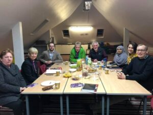 Members of St John's Congregation and other Anglican leaders meet with Bishop Christine.